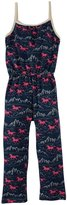 Winter Water Factory Wild Horses Jumpsuit (Toddler/Kid) - Navy and Pink-4T