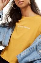 Topshop No Hard Feelings Crop T-Shirt