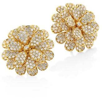 Hueb Secret Garden 18K Yellow Gold & Diamond Flower Earrings