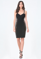 Bebe Petite Cutout Bandage Dress