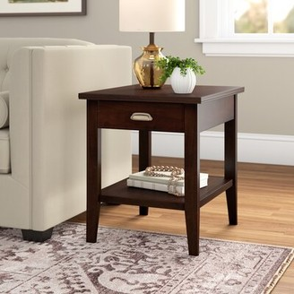 Three Posts Stonington End Table with Storage Color: Chocolate Cherry
