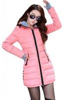 TRURENDI Women¡äs Winter Slim Fit Hooded Cotton Padded Down Jacket Parka Outwear Coat
