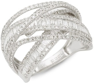 Effy 14K White Gold Diamond Multi-Ring Band