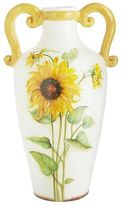 Pier 1 Imports Hand-Painted Terracotta Sunflower Vase