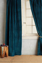 Anthropologie Washed Velvet Curtain