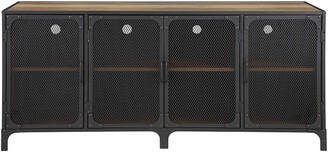 Hewson 60In Industrial Metal Tv Stand Buffet Storage Console