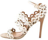 Tory Burch Laser Cut Leather Sandals