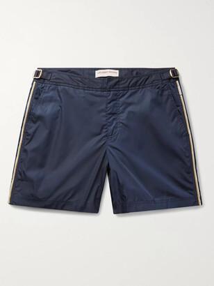 Orlebar Brown Bulldog Mid-Length Piped Swim Shorts - Men - Blue
