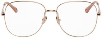 Chloé Rose Gold Joni Square Glasses