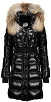 Thumbnail for your product : SAM. Infinity Fox Fur-Trim Belted Down Puffer Coat