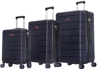 Dukap Definity 3Pc Lightweight Hardside Luggage Set