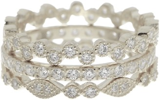 Sterling Forever Sterling Silver Cubic Zirconia Stackable Ring Set