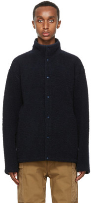 Nanamica Navy Wool Fleece Jacket