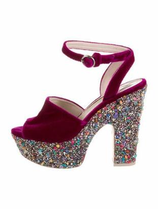 Sophia Webster Colorblock Pattern Sandals Purple