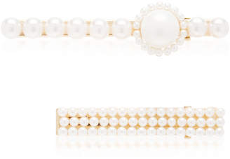 Avenue Set-Of-Two Faux Pearl Hair Clips