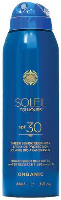 Soleil Toujours Travel Organic Sheer Sunscreen Mist SPF 30