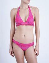 Missoni Fringed halterneck bikini set