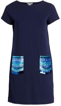 Joan Vass, Plus Size Sequin Pocket Dress