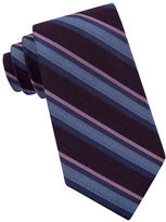 Calvin Klein Four in Hand Silk Blend Striped Tie