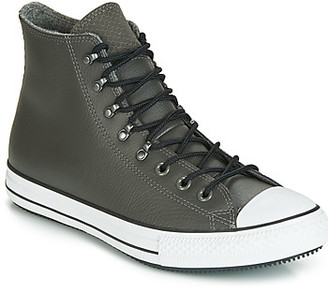 Converse CTAS WINTER LEATHER HI women's Shoes (High-top Trainers) in Grey