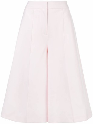 Adam Lippes Wide Leg Cropped Trousers