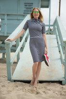 Shabby Apple Dana Fitted Sheath Striped Dress
