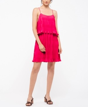 Moon River Pleated Tiered Dress