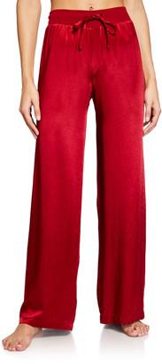 PJ Harlow Jolie Silk-Blend Lounge Pants