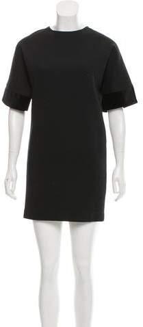 Stella McCartney Velvet-Trimmed Shift Dress