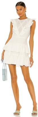 BCBGMAXAZRIA Ruffle Mini Dress
