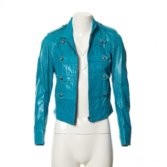 Jean Paul Gaultier Blue Leather Jackets