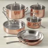 Ruffoni Omegna Cupra Hammered Copper 10-Piece Cookware set