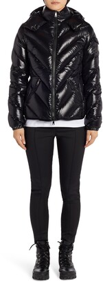 Moncler Brouel Water Resistant Lacquered Down Puffer Coat