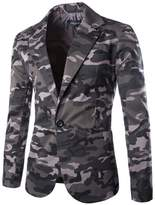 Deer Gary Casual Slim Fit Special Men's Military Style Camouflage Blazer Jacket Suits