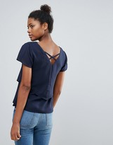 Vila Double Layer Top With Cross Back