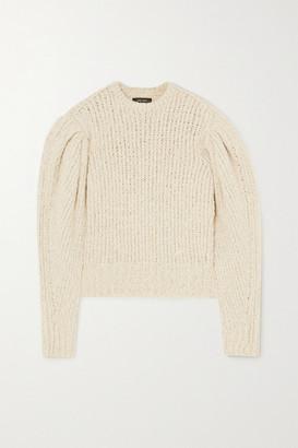 Isabel Marant Enora Ribbed-knit Sweater - Ecru