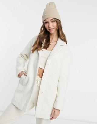 Pimkie teddy coat in white