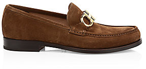 Salvatore Ferragamo Men's Rolo Reversible Gancini Bit Suede Loafers