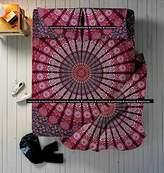 Kiara 3 Pcs Mandala Bedding Posture Million Romantic Soft Bedclothes Plain Quilt Coverlet Twill Bohemian Boho Duvet Cover Set Queen / Twin Size (Lavender Mirchi Mandala, Queen)