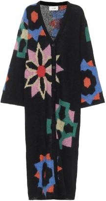 Kirin Intarsia mohair-blend cardigan
