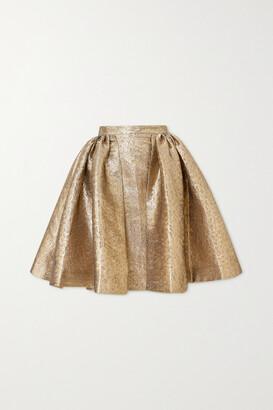 Emilia Wickstead Pleated Lame Skirt