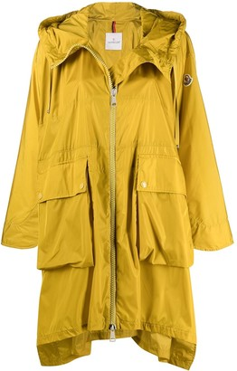 Moncler Logo-Patch Hooded Raincoat