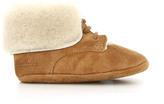 Pom D'Api Suede Sheepskin Turn-Over Top Shoes