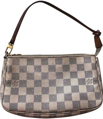 Louis Vuitton Pochette Accessoire Ecru Cloth Clutch bags