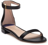 Stuart Weitzman Less Nudist Ankle Strap Leather Sandal