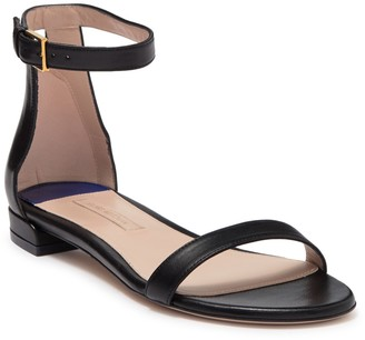 Stuart Weitzman Less Nudist Ankle Strap Leather Sandal