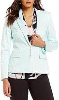 Jones New York Stretch Cotton Suiting Notch Collar Jacket