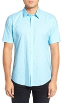 Zachary Prell Men's Weinman Regular Fit Print Short Sleeve Sport Shirt