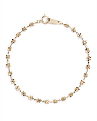 Poppy Finch 18k Gold Flower Beaded Bracelet