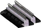 JVL Thin Velvet Touch Space Saving Non-Slip Coat Hangers - Pack of 200, Black